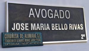PLACAS DESPACHO PROFESIONAL ABOGADO