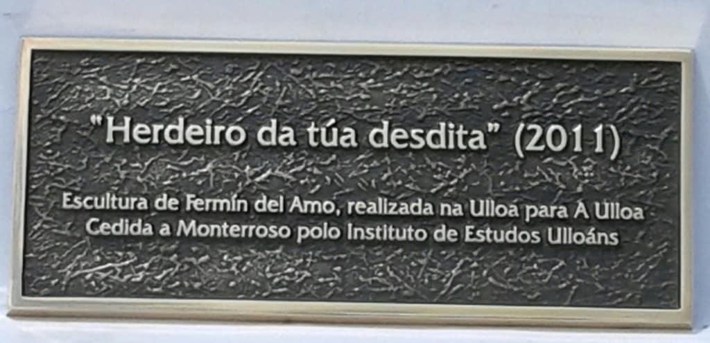 PLACA BRONCE ESCULTURA