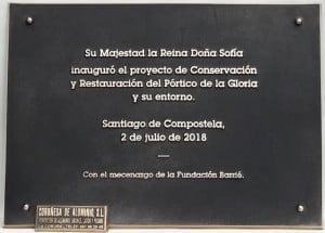 PLACA INAUGURACIÓN BRONCE FUNDIDO