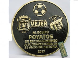 PLACA BRONCE FUNDICIÓN