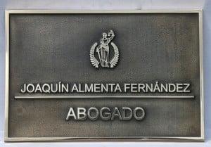 PLACA BUFETE ABOGADO