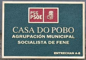PLACA BRONCE PSOE