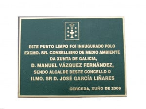 PLACAS FUNDICIÓN BRONCE