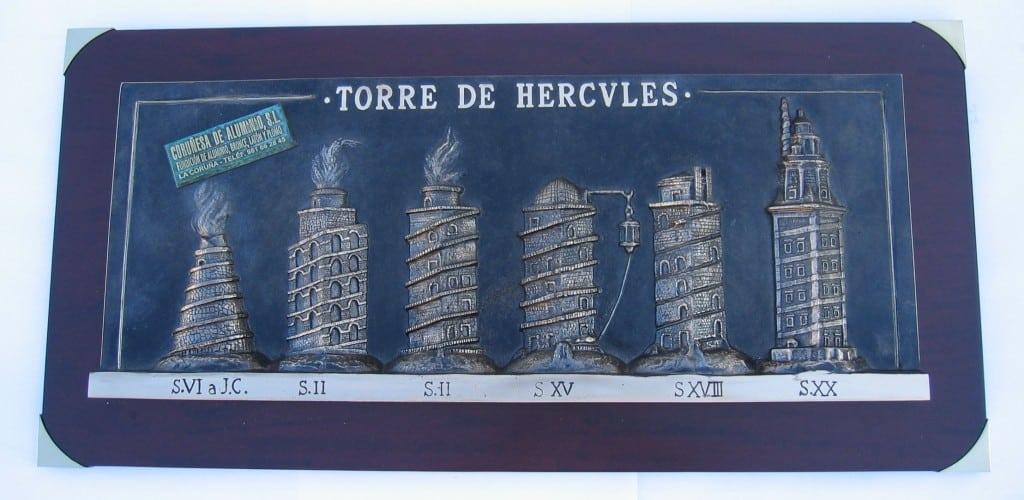 RELIEVE BRONCE TORRE DE HÉRCULES