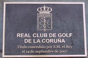 PLACA CLUB DE GOLF